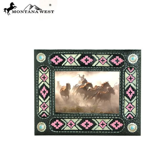 Aztec Black Color Resin Photo Frame