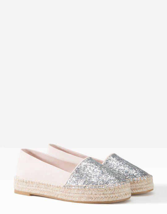 glitter espadrilles stradivarius shoes pinterest philippines glitter and women 39 s. Black Bedroom Furniture Sets. Home Design Ideas