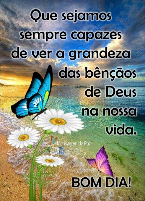 Bom dia na presença de Deus!