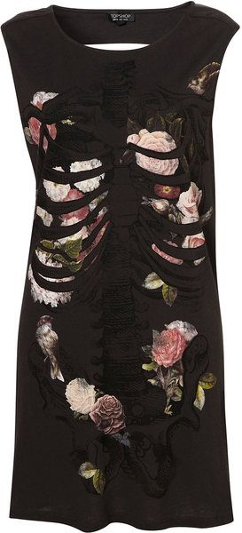 Rib Cage Floral Tunic  $16