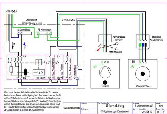 Fresh Schaltplan eines Thermostats f r eine Fu bodenheizung Elektrische Schaltungen f r die Hausinstallation Pinterest
