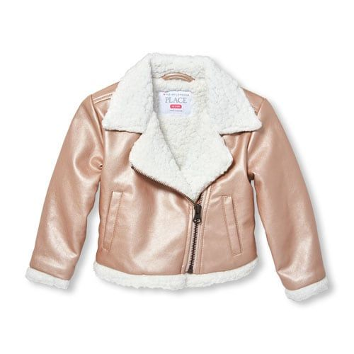 The Childrens Place Girls Moto Jacket