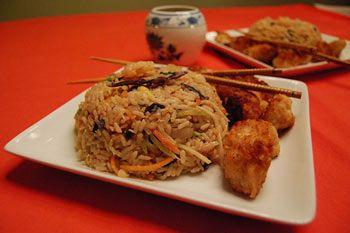 Shrimp Fried Rice - recipe found at http://mischiefbay.susanmallery.com/recipes.html: