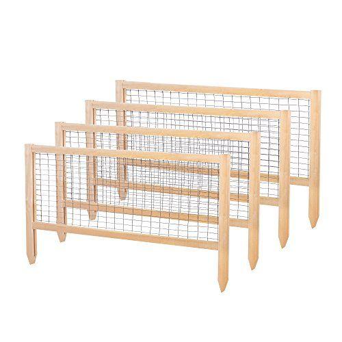 "Greenes Fence CritterGuard Cedar Garden Fence (Pack of 4), 23.5"" Greenes Fence http://www.amazon.com/dp/B00Y81GINA/ref=cm_sw_r_pi_dp_hVqXwb1FXHBCX"
