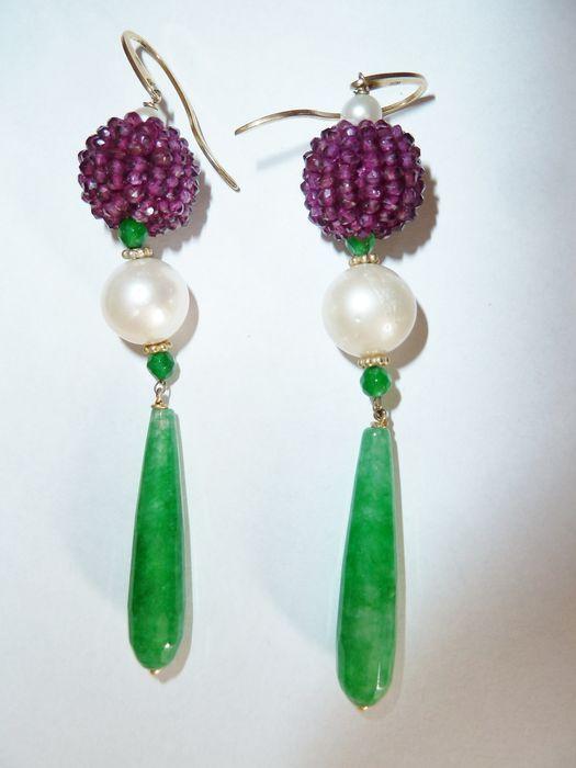 Catawiki Online-Auktionshaus: Paar Ohrringe - Art Deco Periode