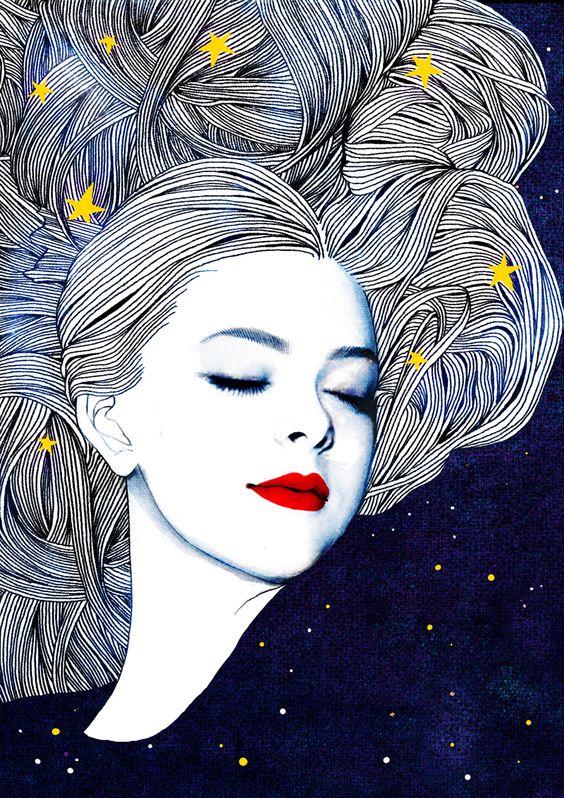 Coloridas, exóticas e vivazes, as ilustrações de Hajin Bae saltam à vista, translúcidas.