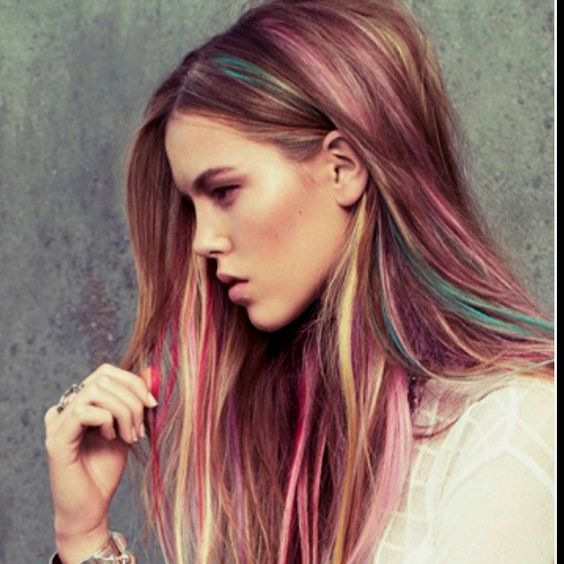 dark blonde hair with pastel pink ends google search