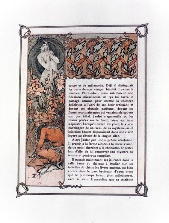 Ilsée, Princesse de Tripoli, by Robert de Flers, illustrated by Alphonse Mucha, Paris : L'Édition d'Art - H. Piazza & Cie ed, 1897