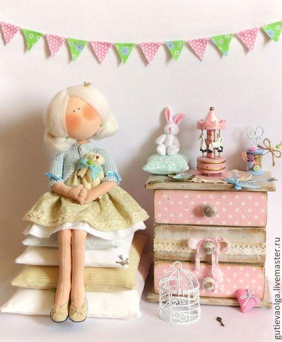 Купить Принцесса на горошине - Принцесса на горошине, принцесса, ангел, интерьерная кукла, текстильная кукла: