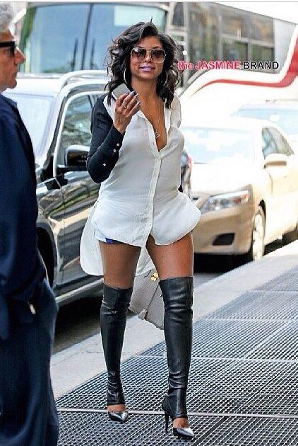 Taraji p henson black dress boots
