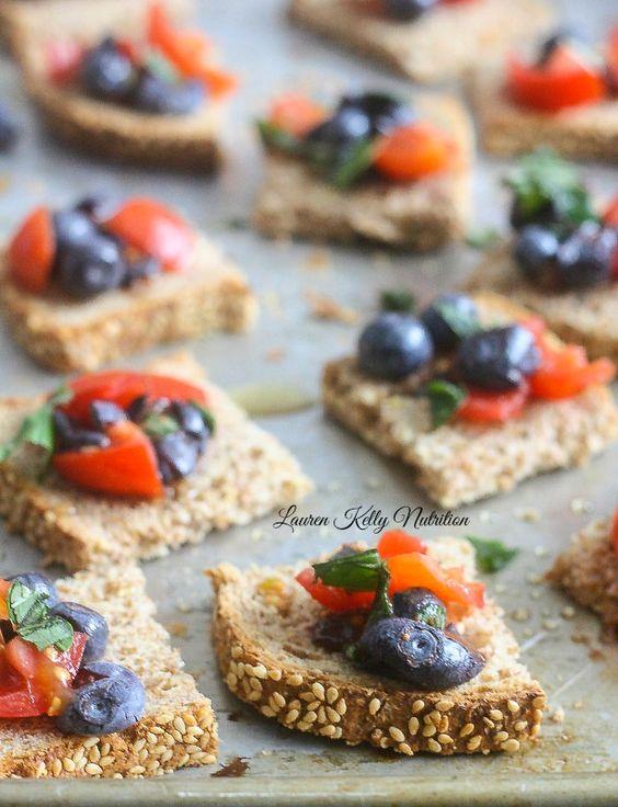 Blueberry Bruschetta   Recipe   Bruschetta, Blueberries and Meals