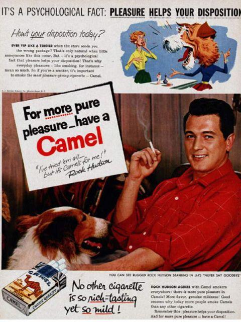 Rock Hudson, Camel Ad