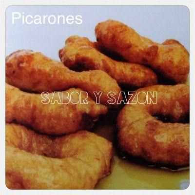 Cómo preparar PICARONES http://saborysazon.blogspot.com/2013/08/como-preparar-picarones.html