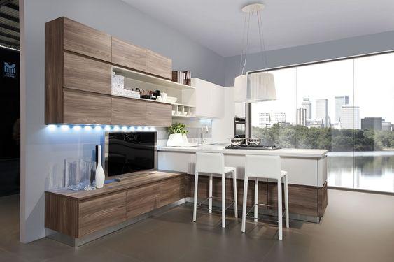 Cuisine bois et blanc recherche google cuisine - Cuisine blanc et bois ...