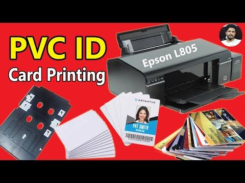Id Card Print With Epson L805 Printer Full Bangla Tutorial Id Card Print With Epson R260 Series Youtube Printed Cards Cards Epson
