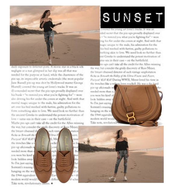 """Sunset"" by dinawinchester ❤ liked on Polyvore"