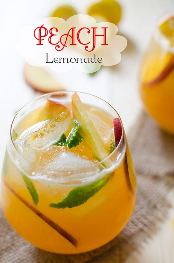 Peach Flavored Perfect Lemonade | Recipe | Kitchens ...