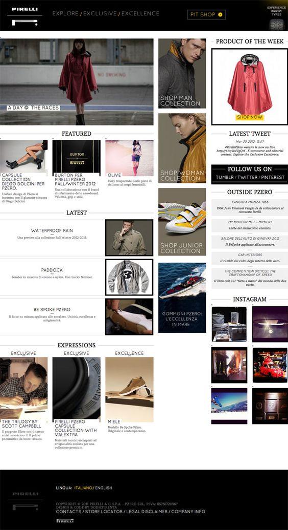 PIRELLI PZERO // Un progetto totale: creatività, sviluppo e strategia. Sito, e-commerce e social networking. Con i temi dell'innovazione e della ricerca stilistica dodicitrenta ridisegna l'immagine di PZero on line.