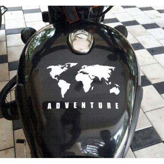 World Map Adventure Sticker For Re Himalayan Thar Suvs And Cars