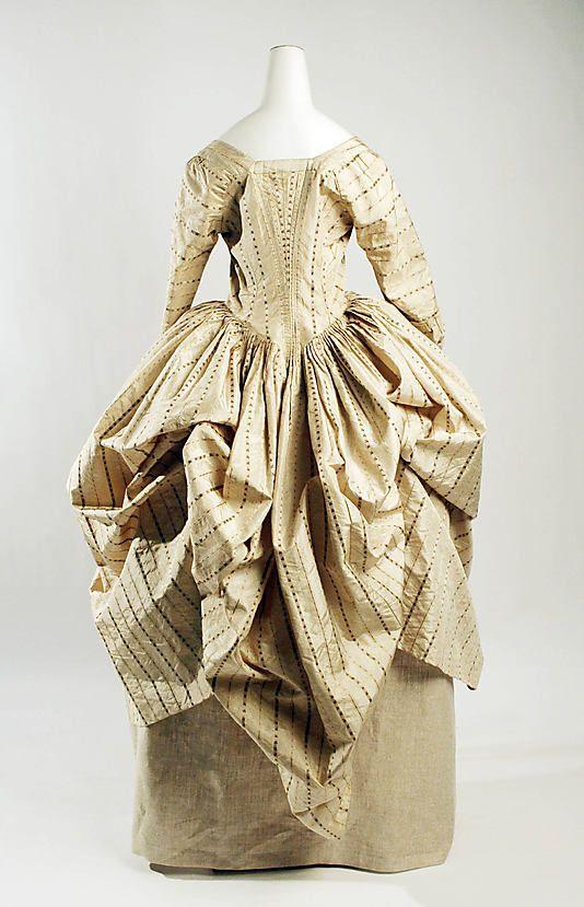 Robe à la Polonaise Date: ca. 1775 Culture: British Medium: silk, cotton Accession Number: 1981.313.2