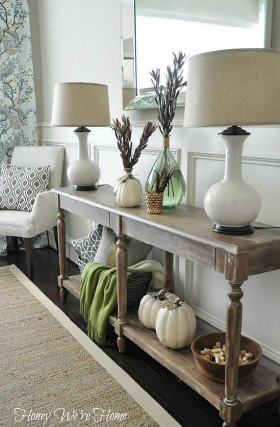 Fall Decor Console Styling From Blog Source List