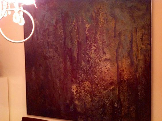 #ARTONTHEWALLS El jardin de las Hesperides, Óleo 180 x 180 de Alfredo Pior.  Colección Guillermo Ruberto. Imagen compartida por la galería ROLF Art.