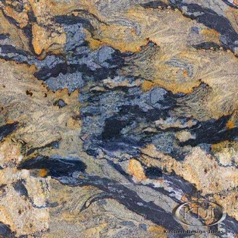Golden Spectrus Granite - Kitchen Countertop Ideas