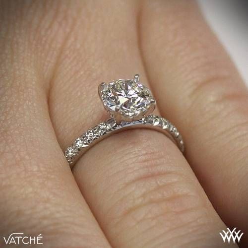 18k White Gold Vatche 1533 Charis Pave Diamond Engagement Ring
