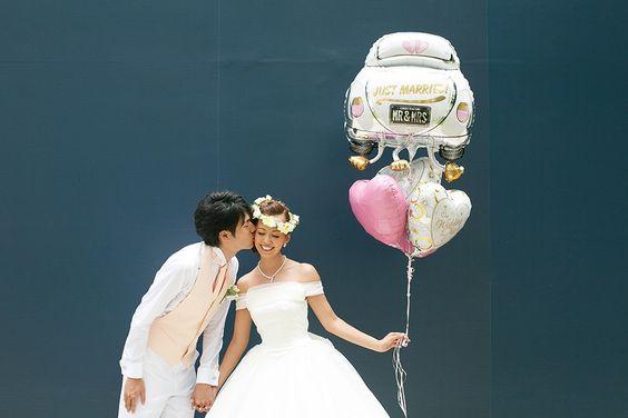 Photo Wedding:街中フォトウェディング(ワイキキ・ダウンタウン) | ウェディング プレッジ ハワイ丨ハワイ挙式 ハワイウェディング 教会挙式の手配