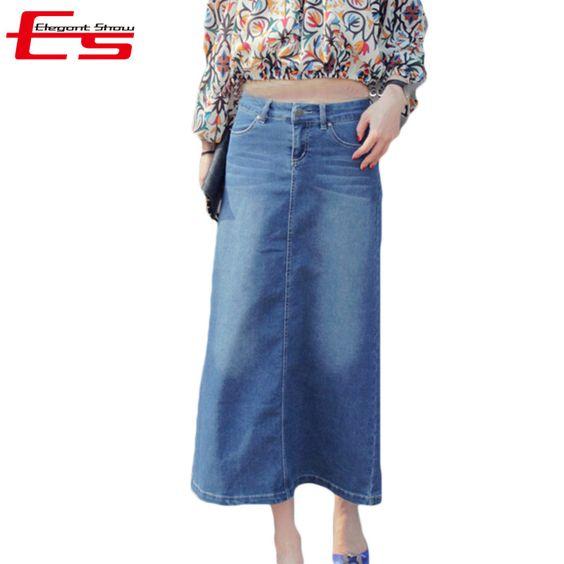 Cheap Vendita calda 2016 di estate blu epoca gonne lunghe jeans moda donna saias jeans longa feminino retro maxi pannello esterno del denim delle signore, Compro Qualità Gonne direttamente da fornitori della Cina:     Trend stile  Caldo, vita delicata.          Us $19.64            Us $19.60            Us $19.63            Us $20.50