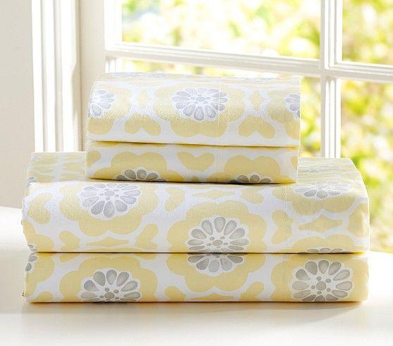 Gorgeous Yellow Amp Gray Sheet Set Http Rstyle Me N