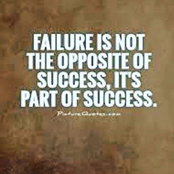 Failure is s part of Success!!!