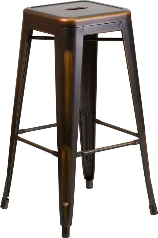 Marias Vintage Copper Metal Bar Stool | Bar Stools | Pinterest | Modern industrial Stools and Copper metal  sc 1 st  Pinterest : vintage metal bar stools - islam-shia.org