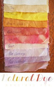b e a n i p e t: Colour Palette - DIY Natural Dye Fabrics