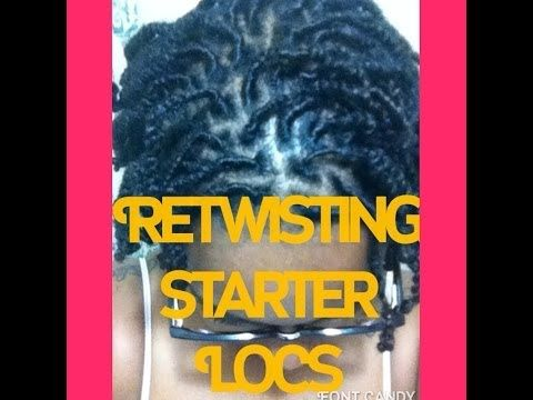 HOW TO: Wash and Retwist Starter Locs - YouTube
