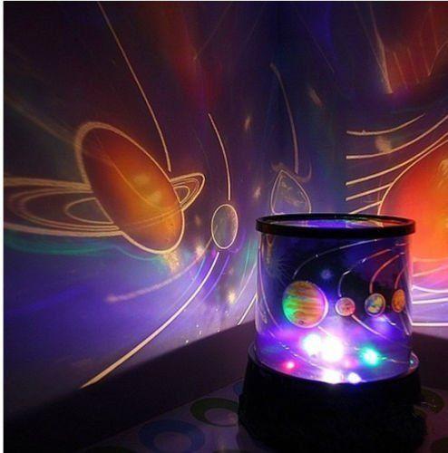 Kids Love Dark Sky Univers Night Light Lamp Projector Solar System