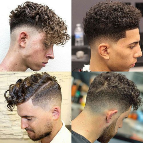 Curly Fade Haircuts For Men 2019 40 Modern Men S Hairstyles For Curly Hair That Curly Fade H In 2020 Curly Hair Men Haircuts For Curly Hair Mens Hairstyles Curly