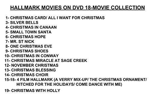 Amazon Com Ultimate 19 Movie Hallmark Holiday Collection Dvd Christmas Card Silver Bells All I Want F Hallmark Holidays November Christmas First Christmas