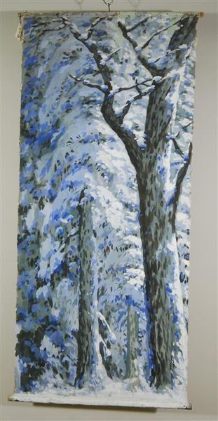 Winterwald / Zimmer (tapezierte Wand mit Bild)