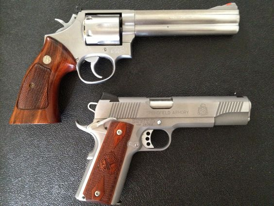 My Smith & Wesson 686 .357 Magnum and Springfield 1911 .45ACP