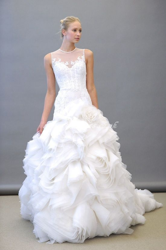 lace wedding dress with crazy skirt