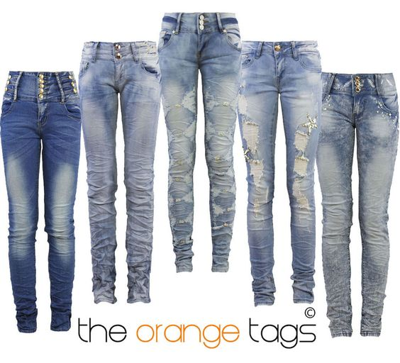Womens distressed jeans, Woman clothing and Jeans women on Pinterest