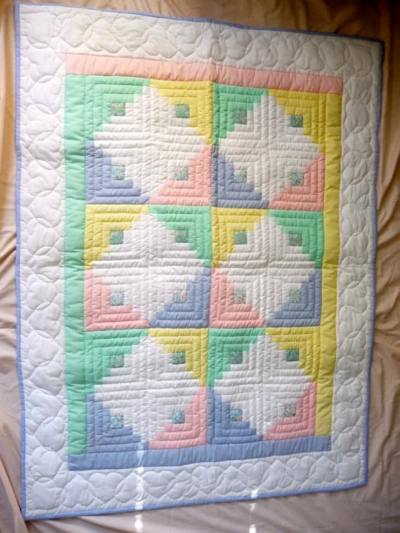 Amish Infant Quilt Log Cabin Pattern Unisex by QuiltsByAmishSpirit, $250.00: