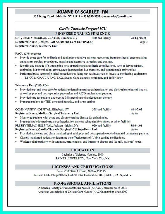 nurse resume sample check more at