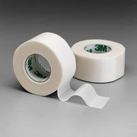 """3M Durapore Surgical Tape 1"""" x 10 yd Box: 12 by MarbleMed. $27.68. """"Silk-like"""" cloth tape with strong adhesion works well for many different applications, such as securing bulky dressings, heavier tubing, and small splints.. 1"""" x 10 yd (2.5 cm x 9.14 m). Box: 12. Convenient bi-directional tear makes it easy and quick to use without scissors.. 3M HEALTHCARE. """"Silk-like"""" cloth tape with strong adhesion works well for many different applications, such as securing bulky ..."""