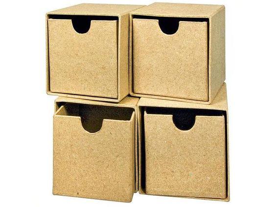 """Aufbewahrungen - Schubladenbox """"Würfel"""", 4 Stück - ein Designerstück von vbs-hobby-versand bei DaWanda"""