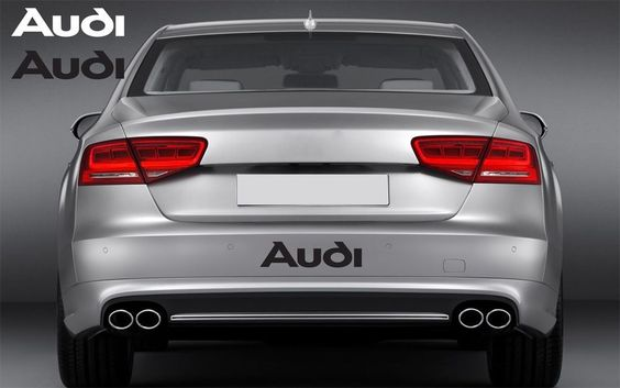 AUDI Vinyl Rear Decal Sticker Fender Emblem Logo Graphic #Oracal