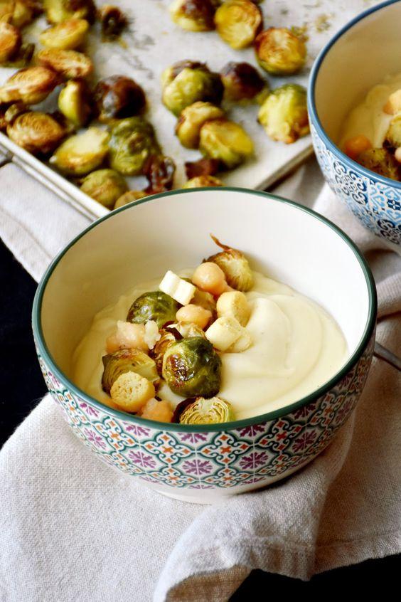 Crema De Chirivia Con Coles De Bruselas Asadas Chez Silvia Cocinar Coles De Bruselas Coles De Bruselas Recetas Con Verduras