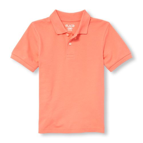 The Childrens Place Boys Big Short Sleeve Uniform Polo