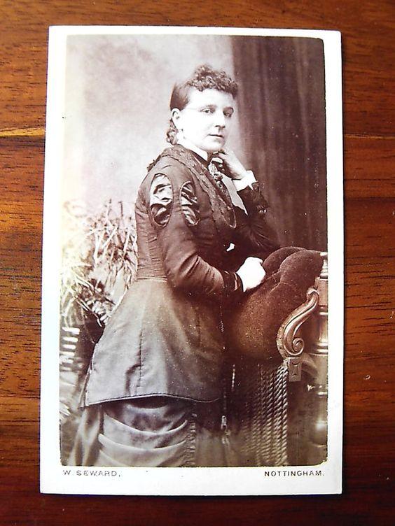 Carte De Visite portrait of woman standing. £1.50 #victorian #cartedevisite #ephemera #photographs